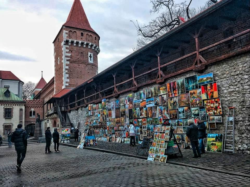Arte callejero en Cracovia