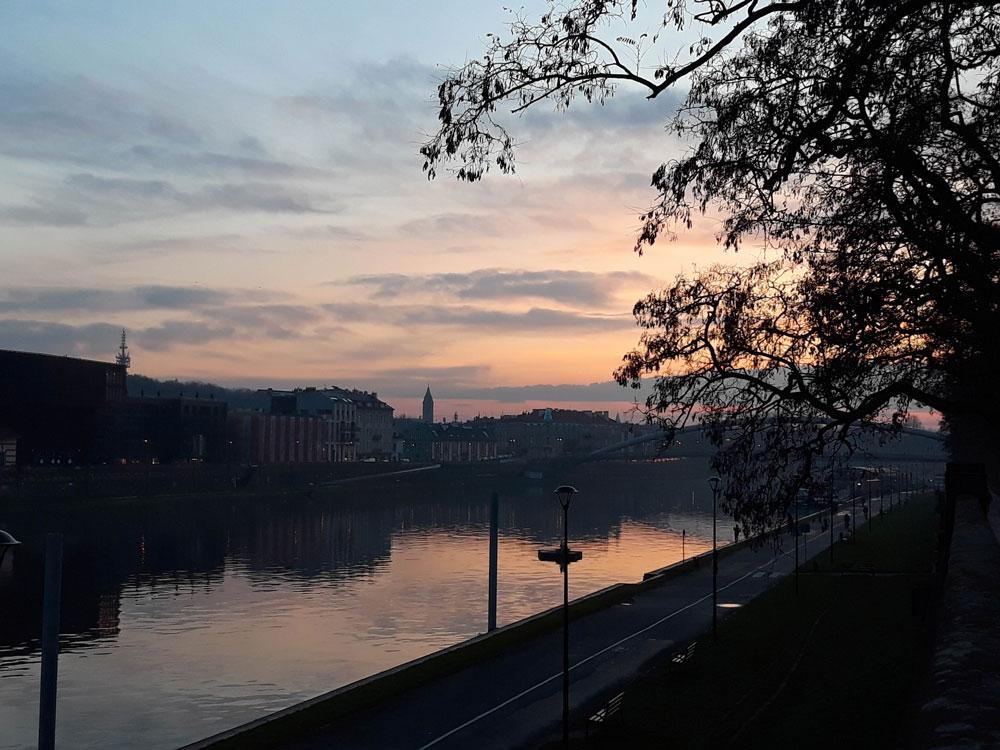 Puesta de Sol en Cracovia