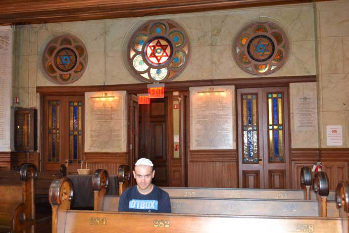 Sinagoga judía en New York