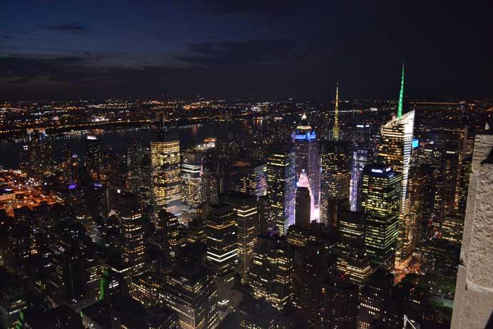 Vistas nocturnas desde el Empire State