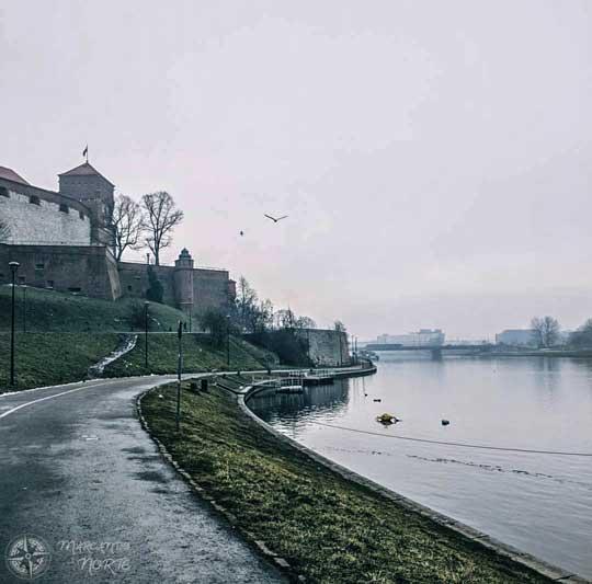 Camino a la colina de Wawel