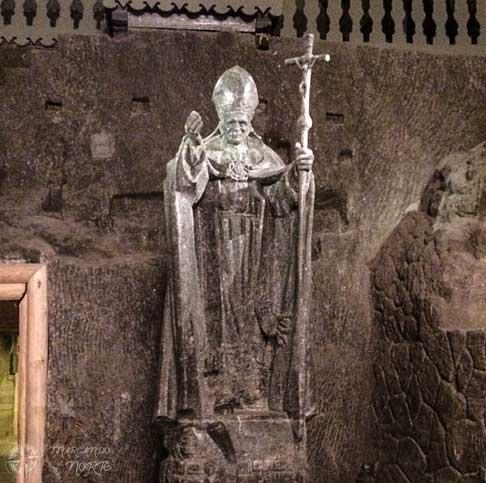 Escultura de sal de Juan Pablo II