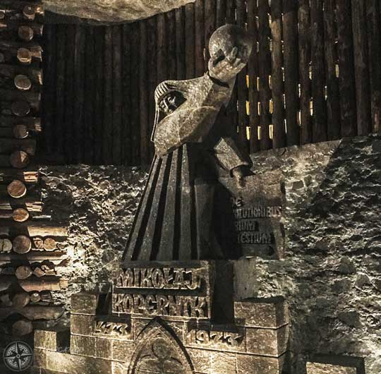 Escultura de sal de Nicolás Copérnico