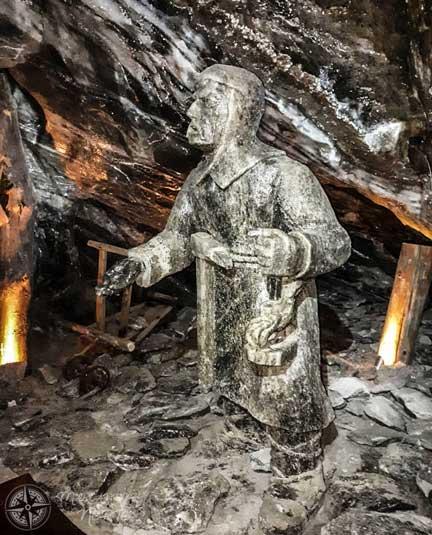 Escultura de sal de un minero