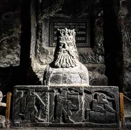 Escultura de sal del rey Casimiro el Grande
