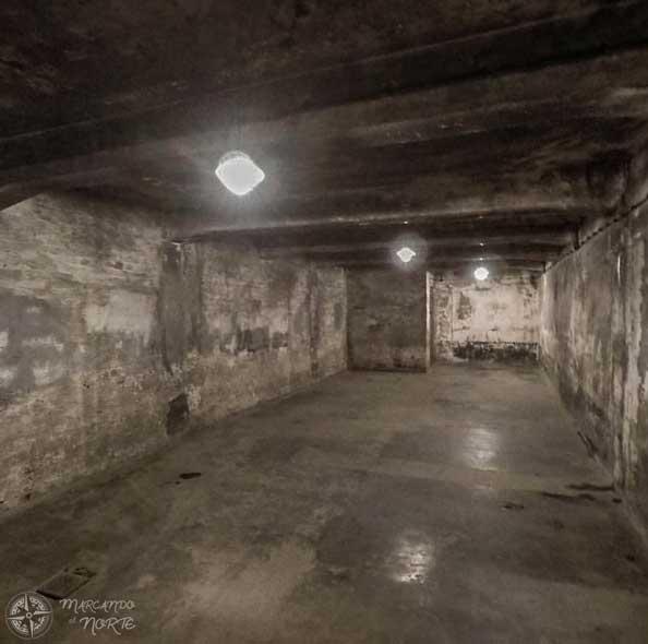 Interior de la cámara de gas