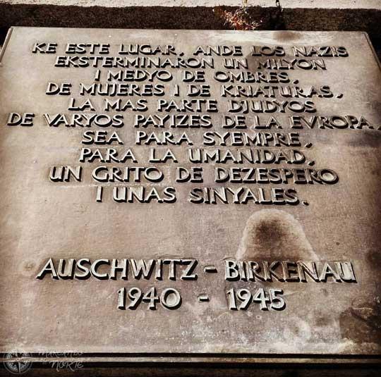 Memorial a las víctimas de Auschwitz