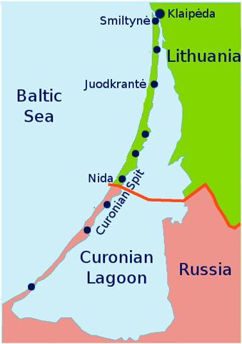Mapa de Curlandia