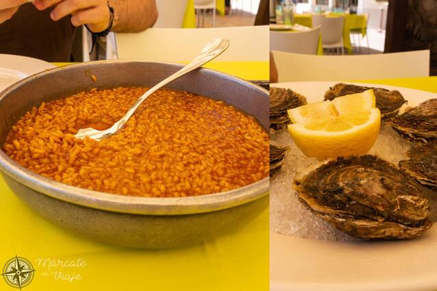 Comer caldero en el Mar Menor